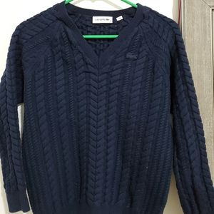 Lacoste wool vneck sweater